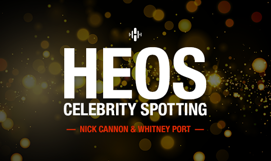 Spotted: HEOS with Nick Cannon & Whitney Port